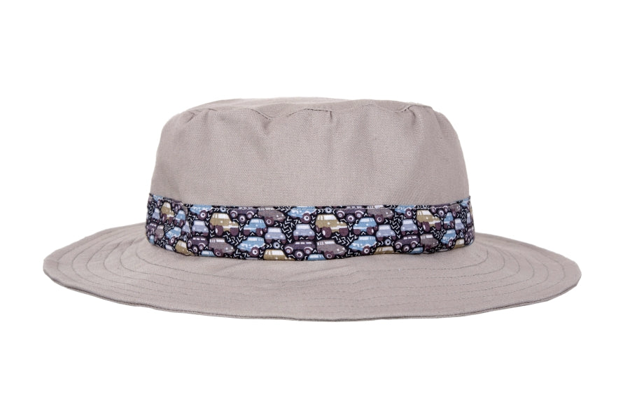Hat / Boys - Khaki and Cars - M0325