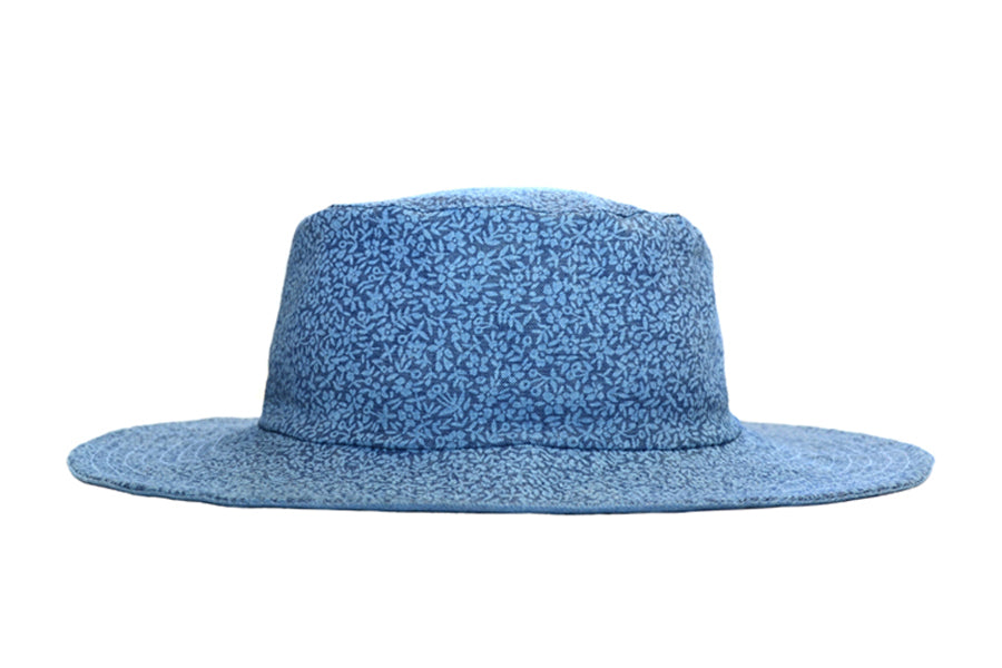 Hat / Girls - Denim Floral - M0414