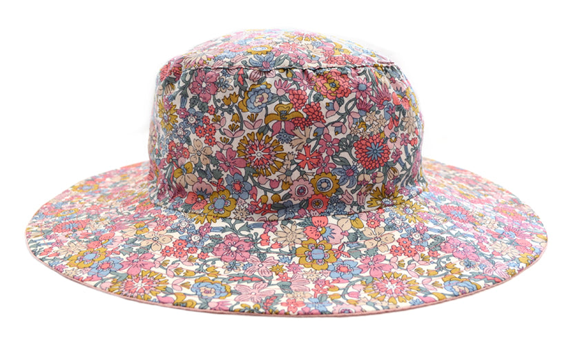 Hat / Girls - Pink Floral - M0416