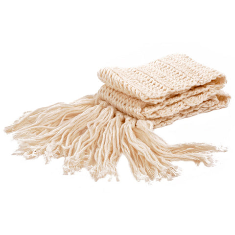 Winter Scarves / Unisex - Cream - M0092