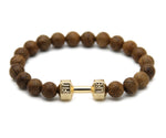 Wooden Dumbbell Bracelet