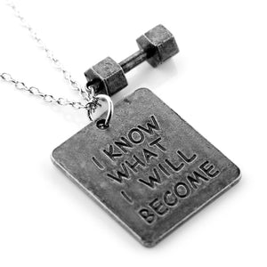 Motivational Dumbbell Necklace