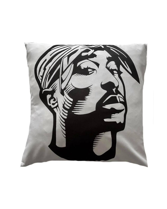 Tupac (Black and White) Cushion Cover