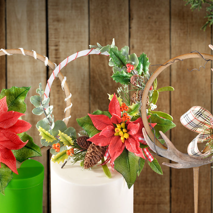 Learn how to make Christmas cake toppers