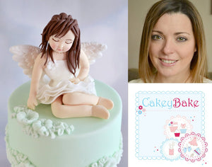 Angel Figure Cake Project by Cakey Bake