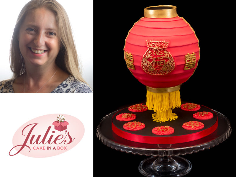 Chinese Lantern Cake Tutorial by Julie Rogerson