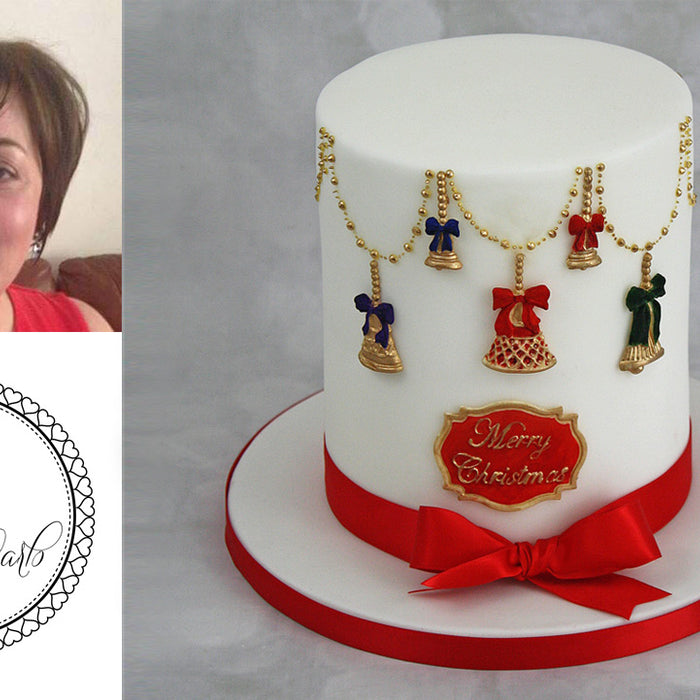 Christmas Bells Cake Tutorial by Lisa Speck
