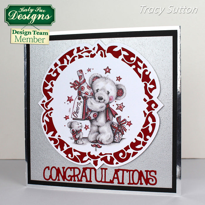 How to: Greyscale Bear Congratulations Card