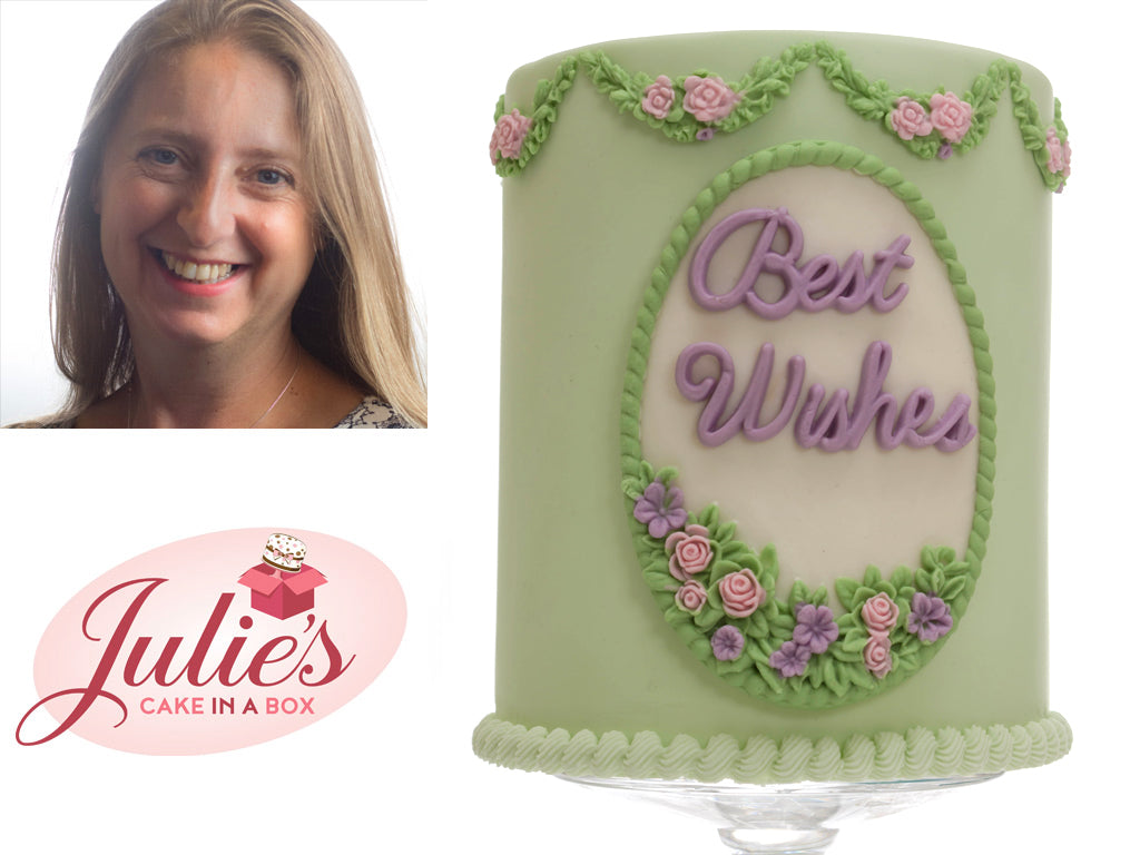 How to make a Gorgeous Best Wishes Cake with the Petite Fleur Oval Plaque
