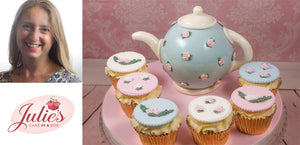 Tea Party Style Cake Collection with Teapot Cake and Cupcakes!