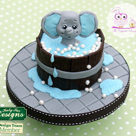 How to: Baby Elephant Bath Time Fun Cake with Sarah Harris from the Cupcake Range – Part 2