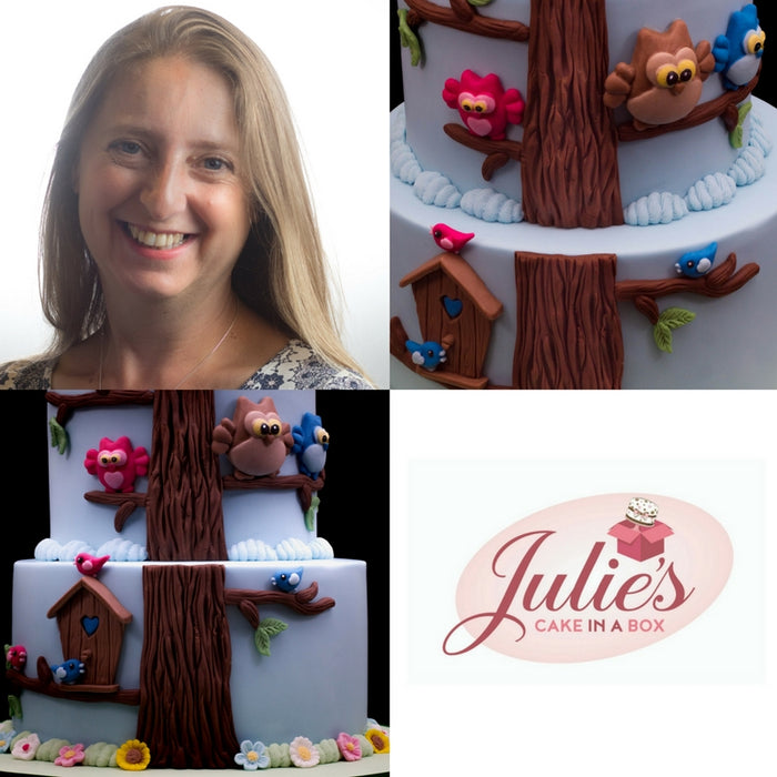 How to make an Owls and Birdhouse Tree Cake with Julie Rogerson