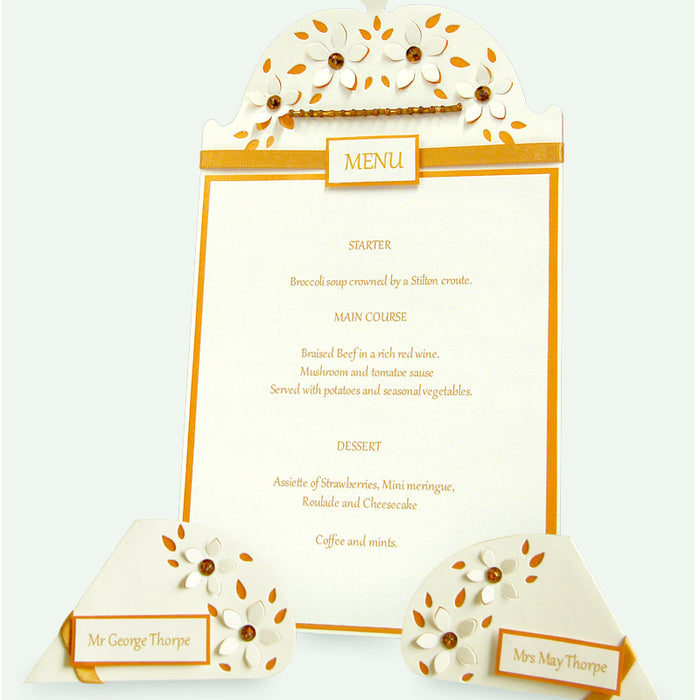 Create Your Own Menu & Name Cards
