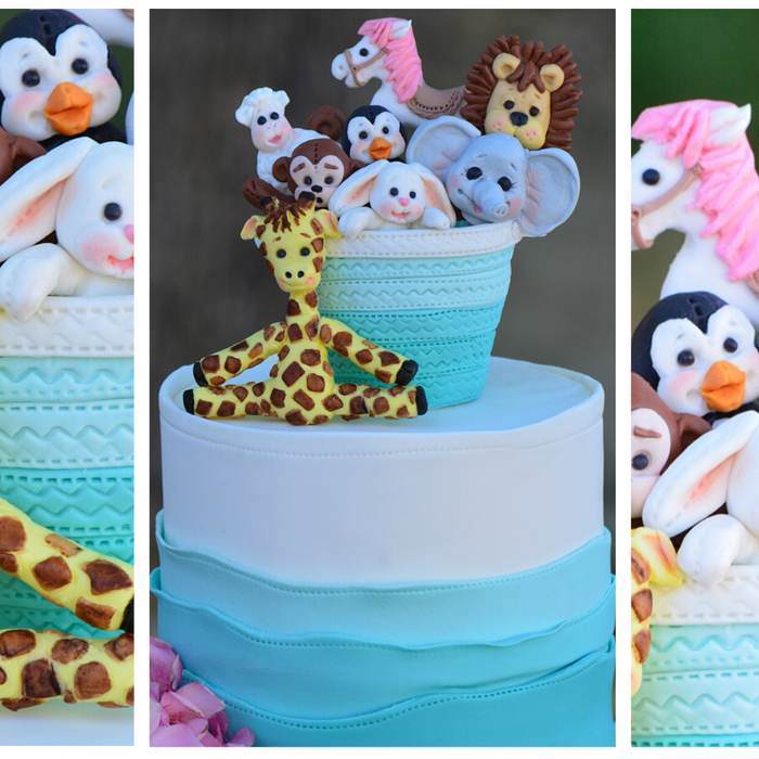 An Adorable Toy Hamper Cake Topper by guest Design Team member Mitchie Curran