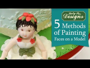 5 Methods of Painting Faces on a Model – Cake Decorating Tutorial Video