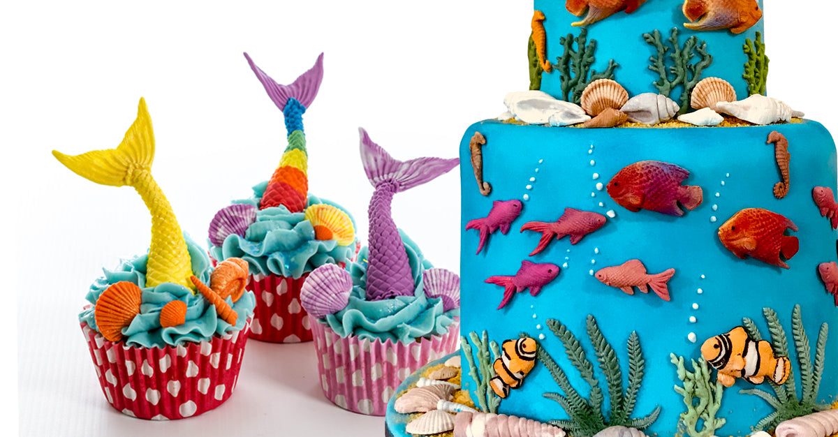 Seaside themed Cake Decorating Moulds