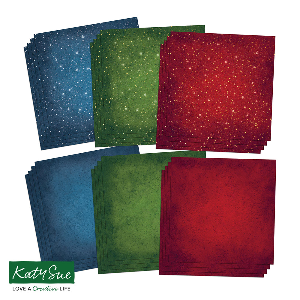 12 x12 Rich Colours and Starry Nights Background Papers