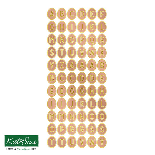 Egg Alphabet Copper / Gold Self Adhesive Stickers