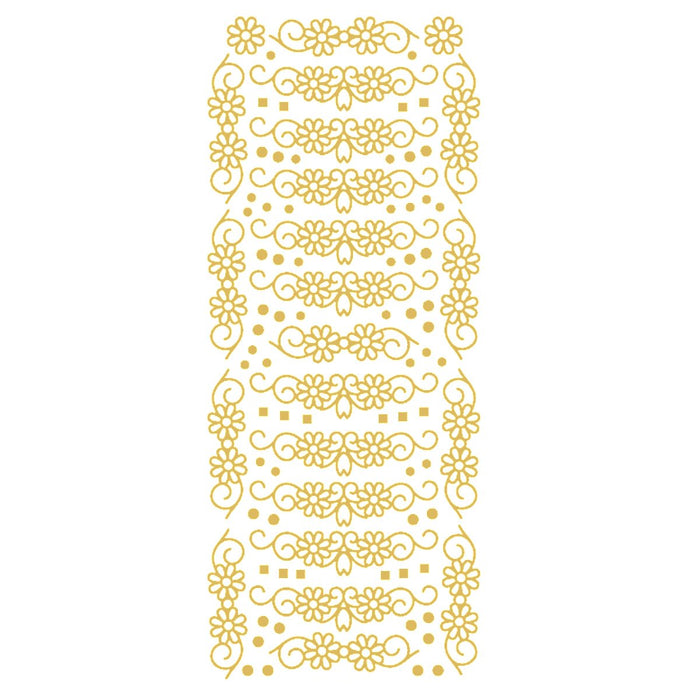 Daisy Swags - Gold Self Adhesive Stickers