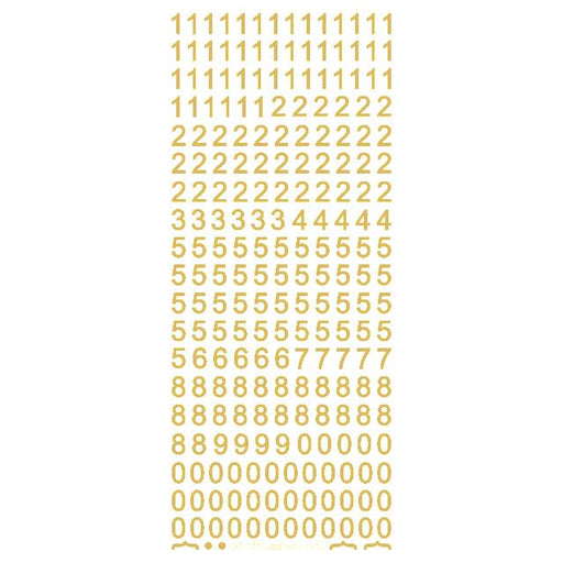 8mm Plain Numbers  Gold