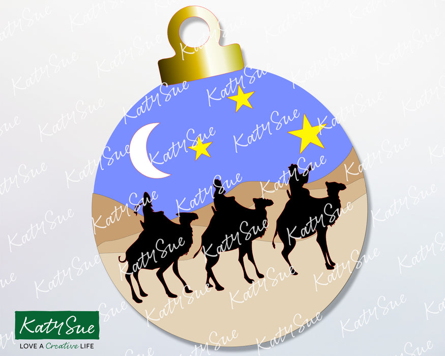 Bauble Three Kings on Camels | Digital Cutting File