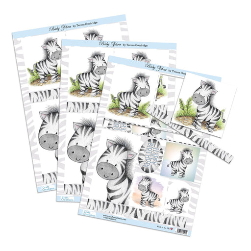 Die Cut Toppers - Baby Zebra (Pack of 3)
