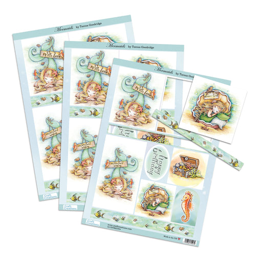 Die Cut Toppers - Mermaid (Pack of 3)