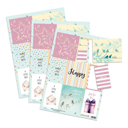 Die Cut Toppers - Thank You (Pack of 3)