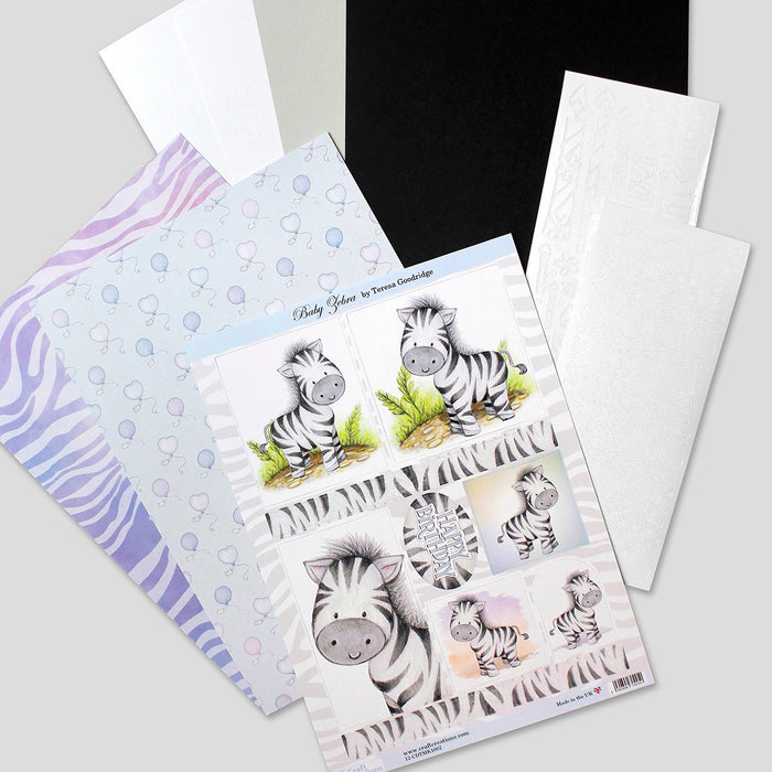 Die Cut Toppers Mini Kit - Baby Zebra