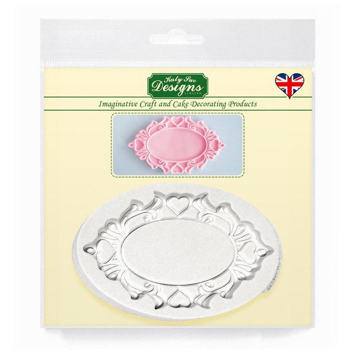 C&D - Oval Hearts Decorative Plaque Silicone Mold pack shot