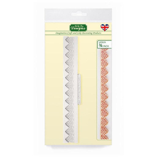 C&D - Victoria Lace Border 3/4 inch Silicone Mold pack shot