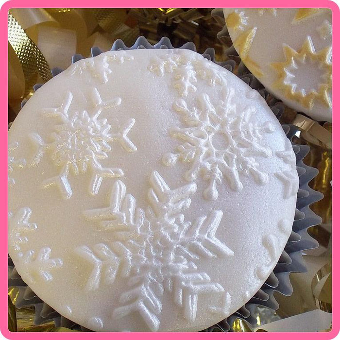 CD - An idea using the Snowflakes Silicone Mould product