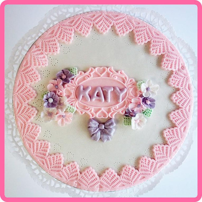 CD - An idea using the Victoria Lace Border 1 1/4 inch Silicone Mould product