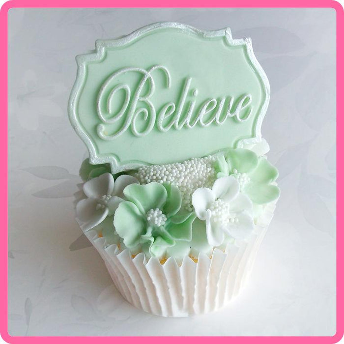 CD - An idea using the Believe Mini Plaque Silicone Mould product