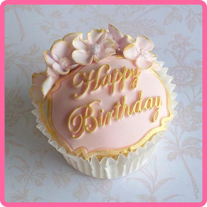 CD - An idea using the Happy Birthday Mini Plaque Silicone Mould product