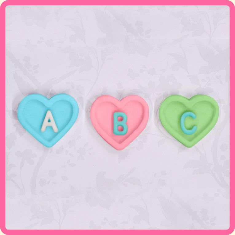 CD - An idea using the Heart Alphabet Silicone Mould product