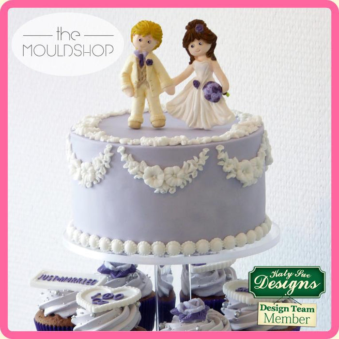 CD - An idea using the Bride Sugar Buttons Silicone Mould product