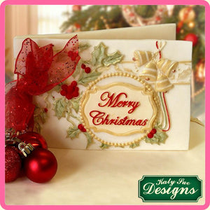 CD - An idea using the Merry Christmas Mini Plaque Silicone Mould product