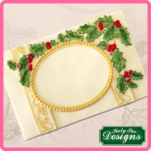 CD - An idea using the Vintage Christmas Plaque - Oval Aperture product