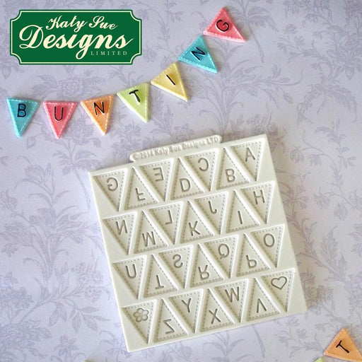 C&D - Alphabet bunting craft mould