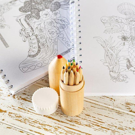 Katy Sue Designs Adult Art Colouring Book Kit (2 Books, 12 Pencils and 1 Sharpener)