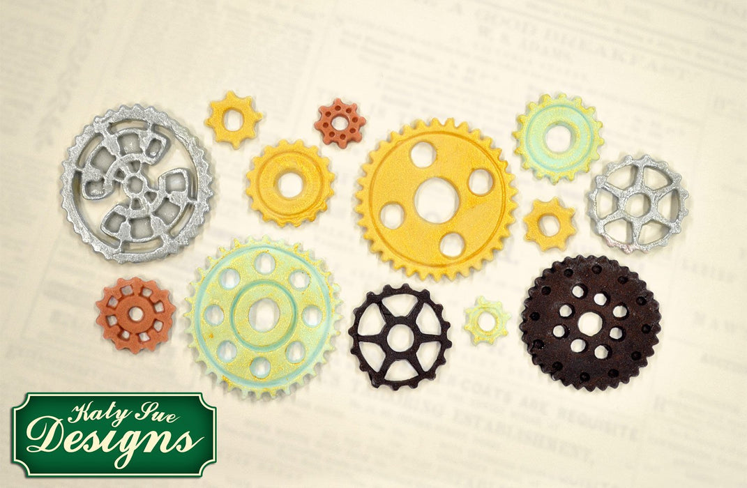 CD - An idea using the Cogs & Wheels Silicone Mould product