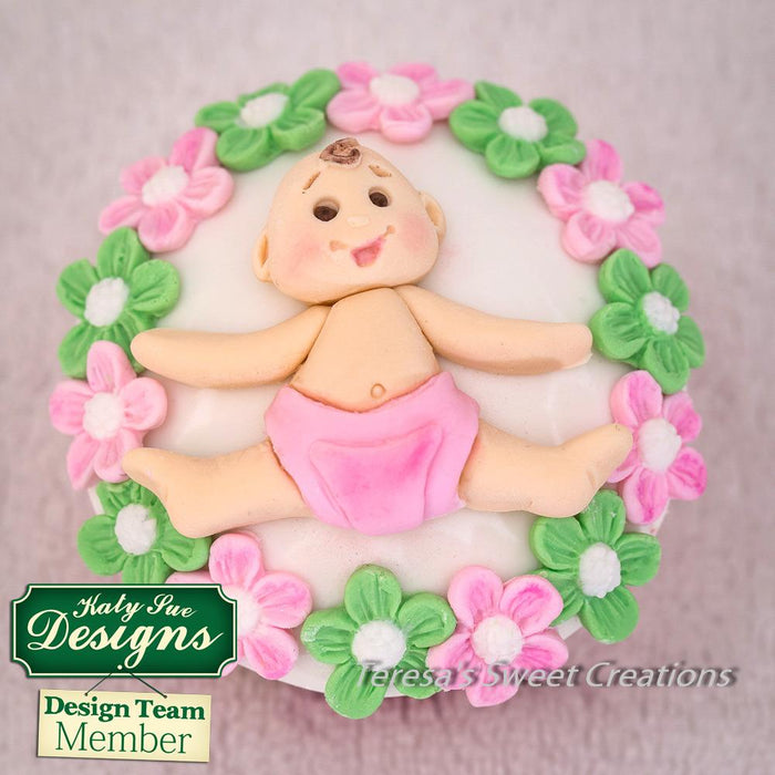 CD - An idea using the Baby Sugar Buttons Silicone Mould product