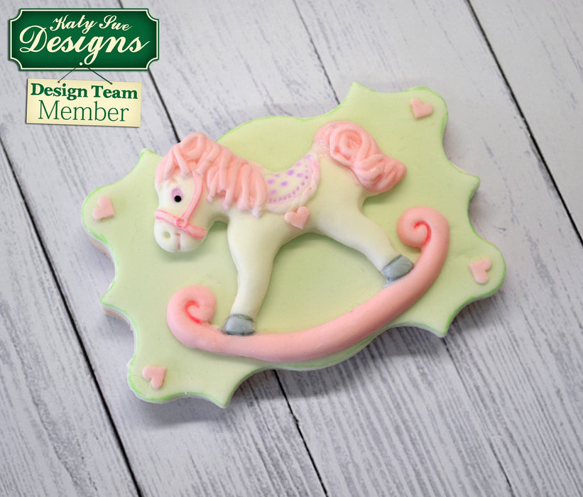 CD - An idea using the Rocking Horse Sugar Buttons Silicone Mould product