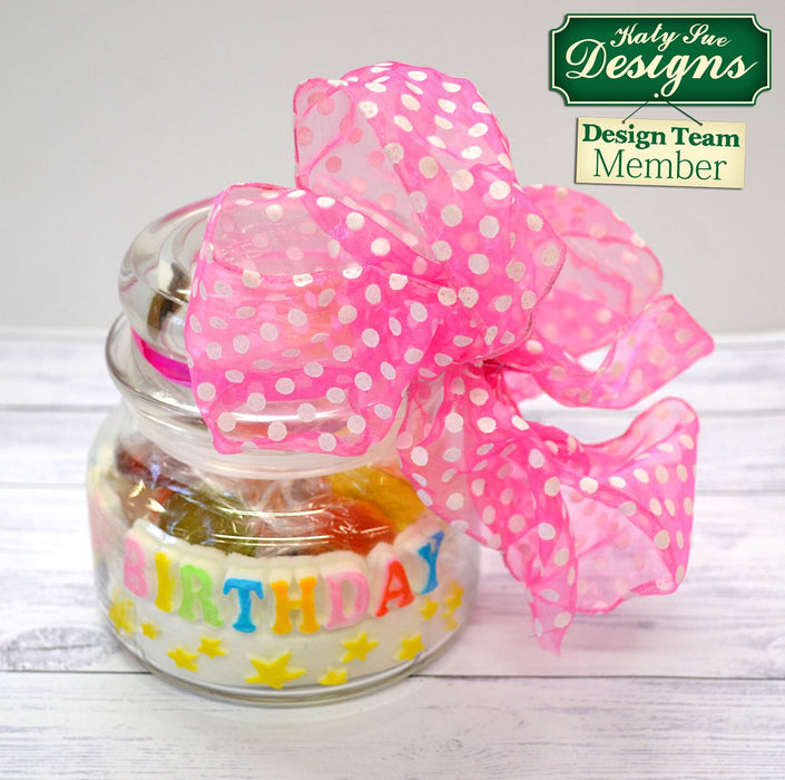 C - An idea using the Happy Birthday Stars Banner Silicone Mould product