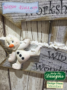 C - An idea using the Snowman Sugar Buttons Silicone Mould product