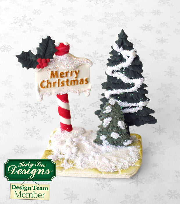 C - An idea using the Christmas Sign Posts Silicone Mould product