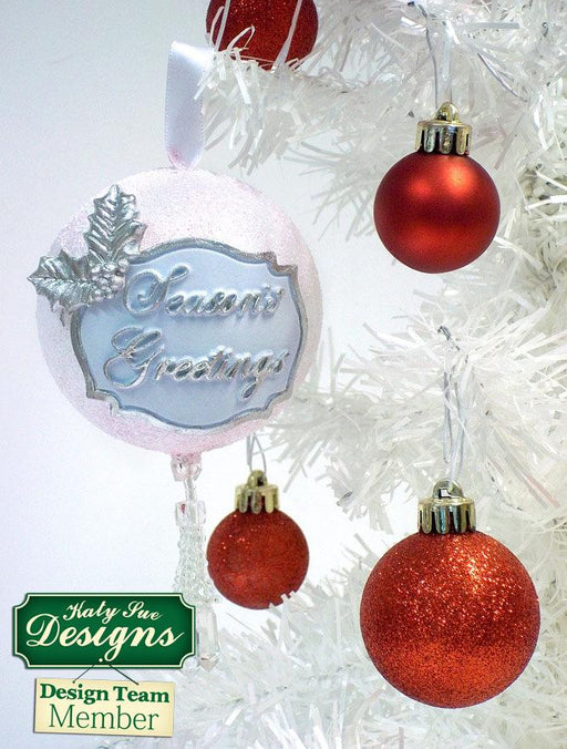 C - An idea using the Seasons Greetings Mini Plaque Silicone Mould product