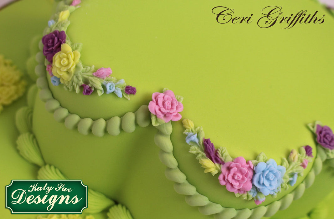 CD - An idea using the Rose Medley Silicone Mould product