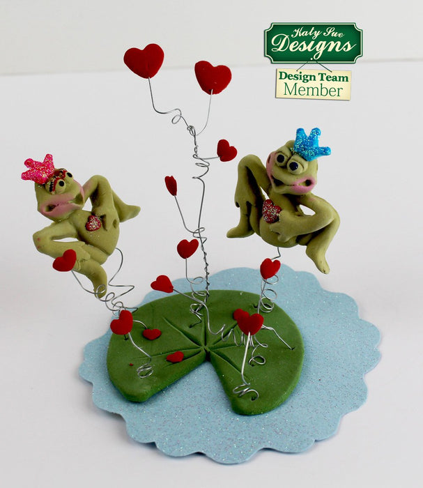 CD - An idea using the Heart Vine Silicone Mould product